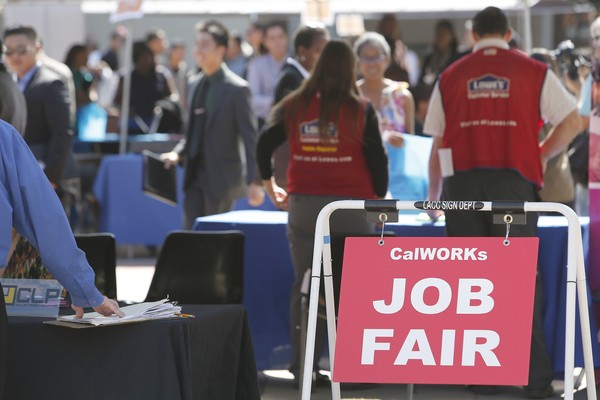 Job Seekers Attend The Fall Classic Hiring Spree Ahead Of Intial Jobless Claims
