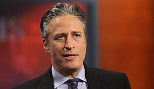 Jon Stewart talks about the political problems in his home state of New Jersey