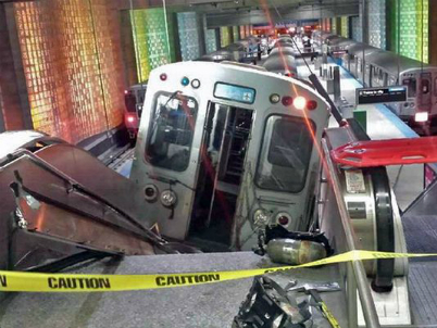 Train Derail Chicago O'Hare