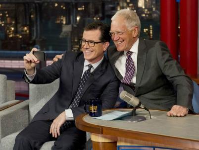 Steven Colbert David Letterman