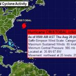 Hurricane Cristobal To Move Toward North Atlantic