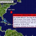 Hurricane Cristobal To Move Toward North Atlantic