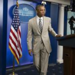 President Obama's Suit was Blinding and Destroyed Creditability