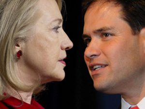 Clinton vs Rubio might be a dream race for the Hispanic community. But for now it is advantage Clinton.