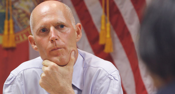 Could Rick Scott be helping Nan Rich. Well only time will tell