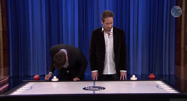 Beer Hockey with David Duchovny   YouTube