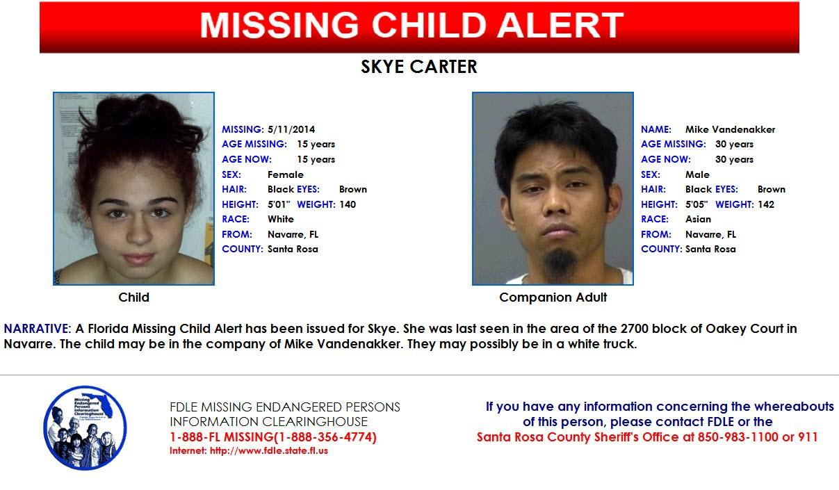 Case Solved (Missing Child Alert: 15-Year-Old Skye Carter ...
