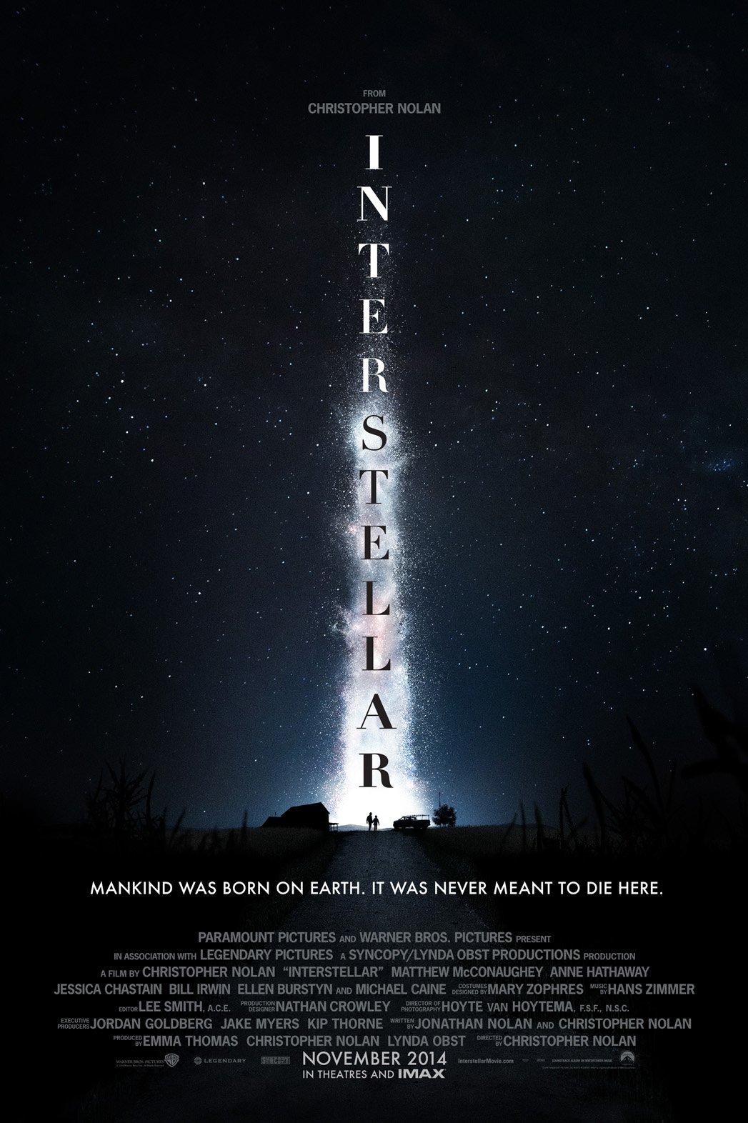interstellar movie poster 2014
