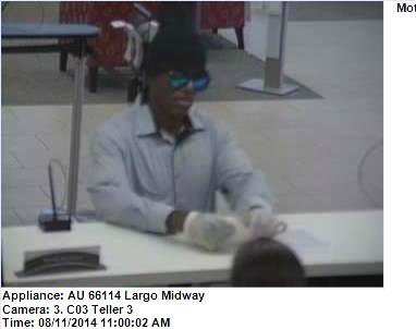 Wells Fargo bank robber Largo