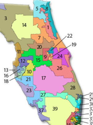 Florida Congressional Districts Map.Florida Finally Has New U S Congress Districts Newstalk Florida N