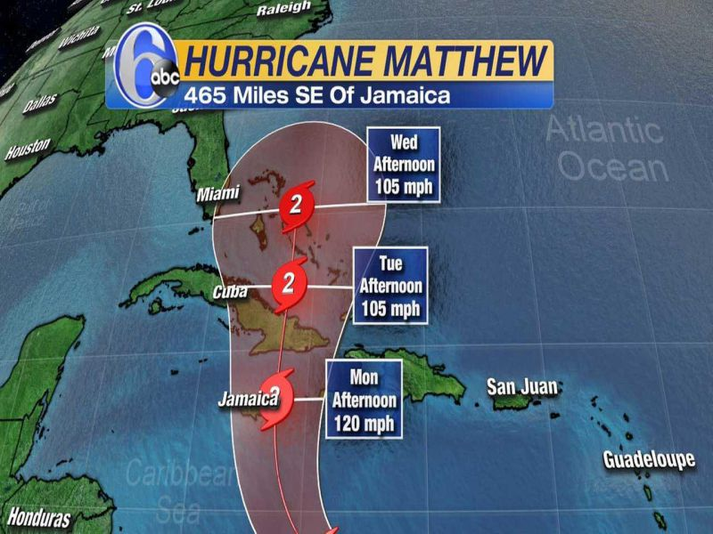mathew still far from the u s mainland but florida is a target area monday. Black Bedroom Furniture Sets. Home Design Ideas