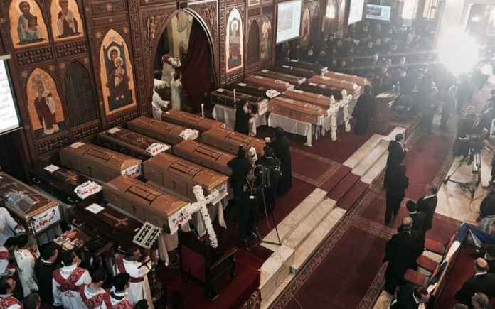 Egypt's Christians bury dead after ISIS church bombings