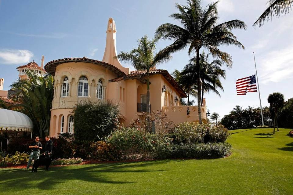 Trump heads today for the florida w h mar a lago trips for Cost of building a home in florida