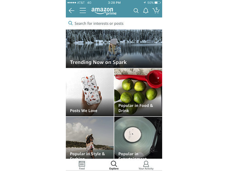 Amazon Spark Launches Shopping Focused Social Network
