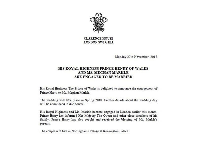 Prince Harry Actress Meghan Markle To Wed Next Year