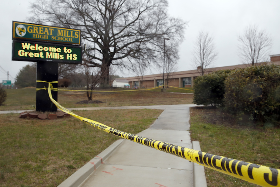 Victim in Maryland school shooting dies from gunshot wounds