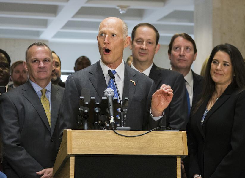 Gov. Rick Scott aims to unseat Florida's Democratic senator