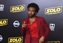 "Donald Glover arrives at the premiere of ""Solo: A Star Wars Story"""